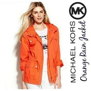 Michael Kors orange rain jacket l